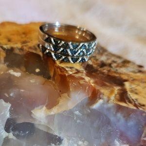 Jewelry - Blue diamond stacking rings